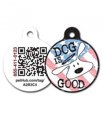 Pet ID: Bolo Patriot QR Code Tag by PetHub