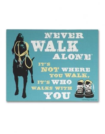 Canvas Wall Art: Never Walk Alone