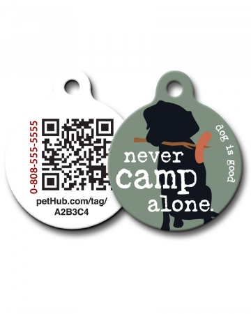 Pet ID: Never Camp Alone QR Code Tag by PetHub