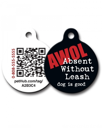 Pet ID: AWOL QR Code Tag by PetHub