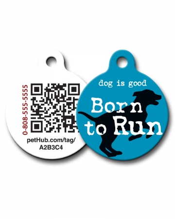 Pet ID: Born to Run QR Code Tag by PetHub