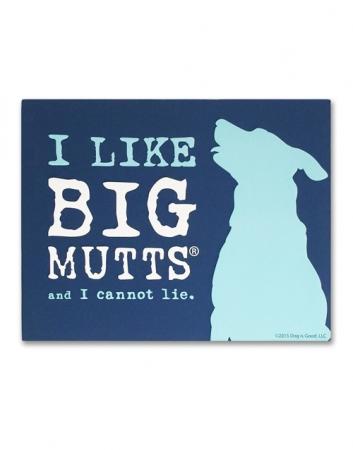 Canvas Wall Art: I Like Big Mutts