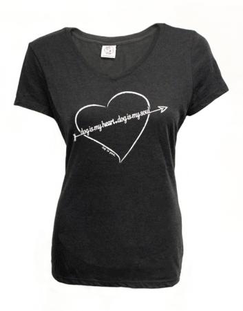 T-shirt: Dog is My Heart (women's)